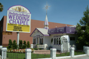 Exterior of Las Vegas Wedding Chapel Wee Kirk