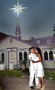 couple at Wee Kirk for a Vegas Wedding