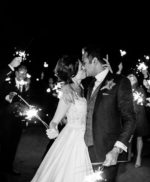FAB Las Vegas wedding with sparkler exit